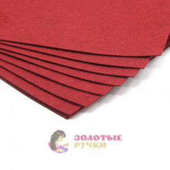 Фетр размер 20х30 толщина 1мм цвет бордовый