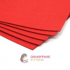 Фетр размер 20х30 толщина 1мм цвет красный