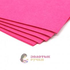 Фетр размер 20х30 толщина 1мм цвет розовый