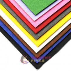 Фетр размер 48х48 толщина 3мм цвет Ассорти