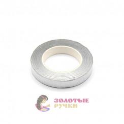 Флористическая тейп - лента цвет серебро 1 рулон 30 ярд