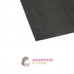 Фоамиран для цветов размер 50*50 толщина 1мм цвет черный