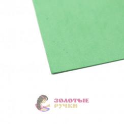 Фоамиран для цветов размер 50*50 толщина 1мм цвет зеленый
