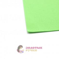 Фоамиран для цветов размер 50*50 толщина 1мм цвет светло зеленый