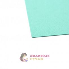Фоамиран для цветов размер 50*50 толщина 1мм цвет мятный