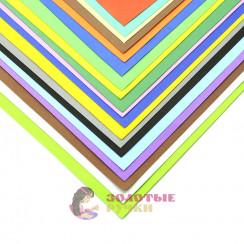 Фоамиран для цветов размер 50*50 толщина 1мм цвет микс