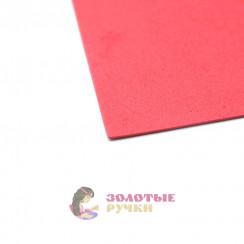 Фоамиран для цветов размер 50х50 толщина 2мм цвет красный карал