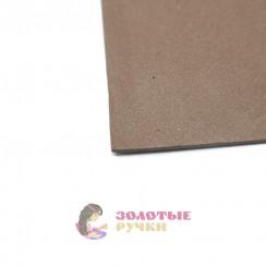 Фоамиран для цветов размер 50х50 толщина 2мм цвет коричневый