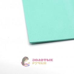 Фоамиран для цветов размер 50х50 толщина 2мм цвет мята
