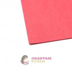 Фоамиран для цветов размер 50х50 толщина 2мм цвет красный