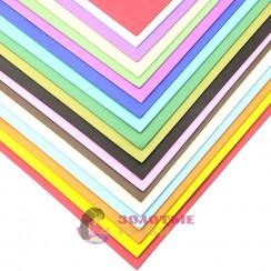 Фоамиран для цветов размер 50х50 толщина 2мм цвет ассорти