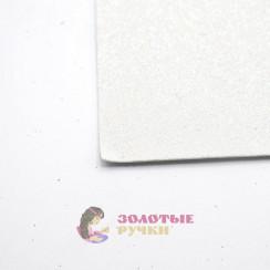 Фоамиран для цветов глиттерный размер 50х50 толщина 2мм цвет белый