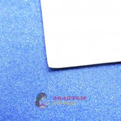 Фоамиран для цветов глиттерный размер 50х50 толщина 2мм цвет голубой