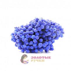 Ягоды в сахаре для декорация в упаковке 400 шт цвет синий