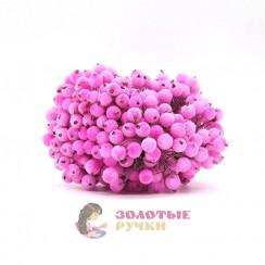 Ягоды в сахаре для декорация в упаковке 400 шт цвет розовый