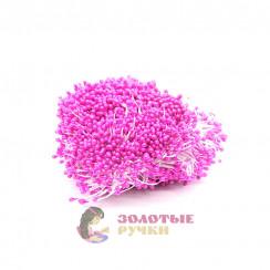 Тычинки длина - 3мм (уп. 1650-1800шт) цвет розовый