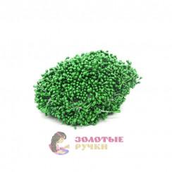 Тычинки длина - 3мм (уп. 1650-1800шт) цвет зеленый