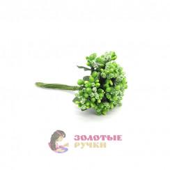 Тычинки в сахаре на проволоке длина - 7мм (уп. 144шт) цвет зеленый