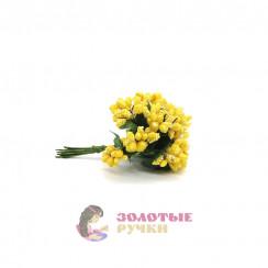 Тычинки в сахаре на проволоке длина - 7мм (уп. 144шт) цвет желтый