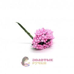 Тычинки в сахаре на проволоке длина - 7мм (уп. 144шт) цвет розовый