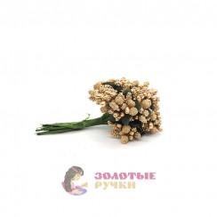 Тычинки в сахаре на проволоке длина - 7мм (уп. 144шт) цвет золото