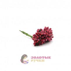 Тычинки в сахаре на проволоке длина - 7мм (уп. 144шт) цвет красный