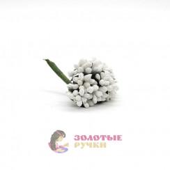 Тычинки в сахаре на проволоке длина - 7мм (уп. 144шт) цвет белый